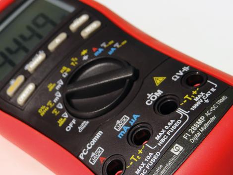 Multimètre numérique portable TRMS AC+DC, 10 000 points, avec fonction AutoCheck  FI 288MP