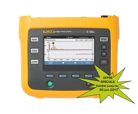 Enregistreur de puissance de  courant électrique triphasé  version gold  FLUKE-1736/EUS-GOLD