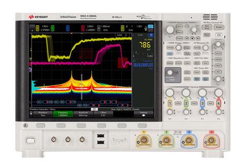 Oscilloscopes numériques  mixtes 2 ou 4 voies + 16  logiques, de 1 GHz à 6 GHz  MSOX-6000X