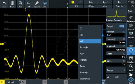 Option générateur de signaux arbitraires pour RTM3000   RTM3-B6