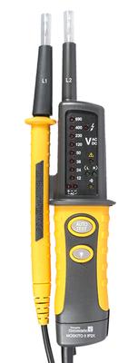 Testeur de tension VAT  selon EN 61243-3 et NF C18-510 avec pointes de touches  rétractables protégées IP2X MOSKITO-II-IP2X