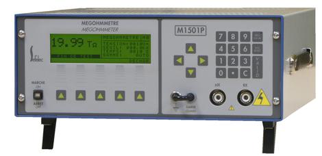 Téraohmmètre 2000 TΩ 1-1500VDC picoampèremètre automatique à microprocesseur  programmable IEEE488 M1501P