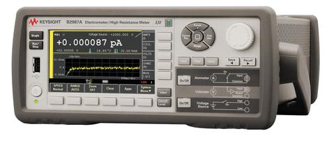 Femto- / Pico-ampèremètre 1 voie 1 W, avec mesure et source de tension  B2987A