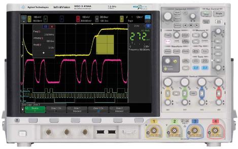 Oscilloscope numérique mixte 4 voies 200 MHz, 2,5 Géch/s, 4 000 000 points  MSOX 4024A