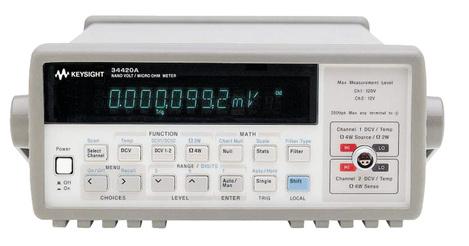 Micro-ohmmètre numérique de table 7,5 digits, avec  nanovoltmètre (100 pV et 100 nΩ) 34420A