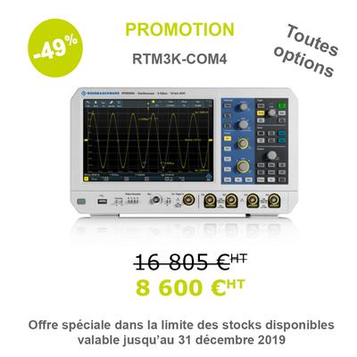 Oscilloscope 4 voies 1 GHz RTM3004 Toutes Options B1 et pack PK1  RTM3K-COM4