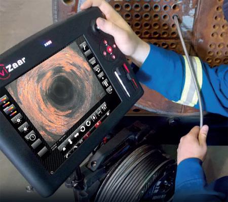 Endoscope longueur jusqu'à  30 m avec sondes orientables et interchangeables  VUMAN-E3