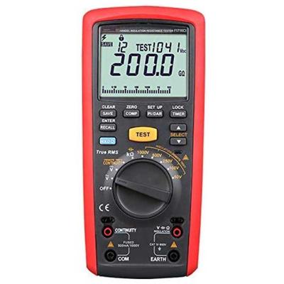Multimètre et Contrôleur  d'isolement numérique 200 GΩ,  tension d'essai jusqu'à 1 000V avec fonctions PI, DAR FI716CI