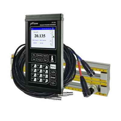 Kit débitmètre à ultrasons de  précision portable en malette avec deux jeux de transducteur sur règle et accessoires P118I-KIT