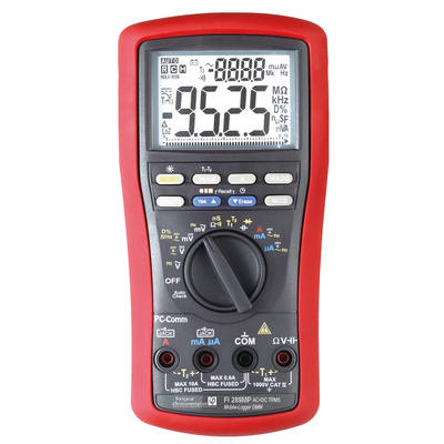 Multimètre portable TRMS AC+DC, 10 000 pts, avec enregistreur de données  FI 289MP