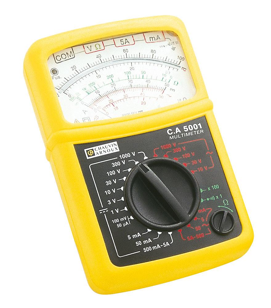 Multim tre analogique portable ca5001 chauvin arnoux for Tester un fusible sans multimetre
