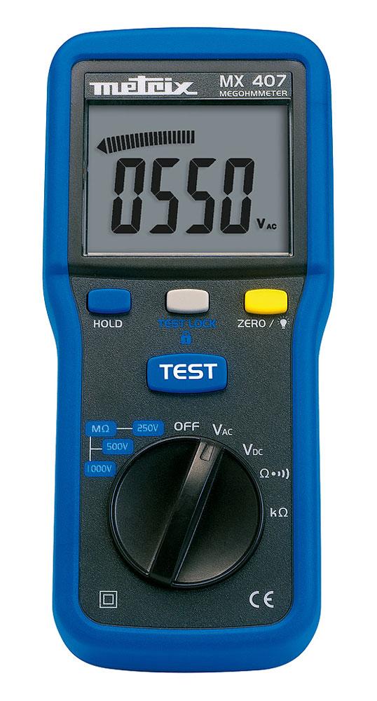 Contr leur d 39 isolement 1 000 v metrix mx0407 distrame contr leurs d 39 isolement bt metrix - Controleur de consommation electrique ...