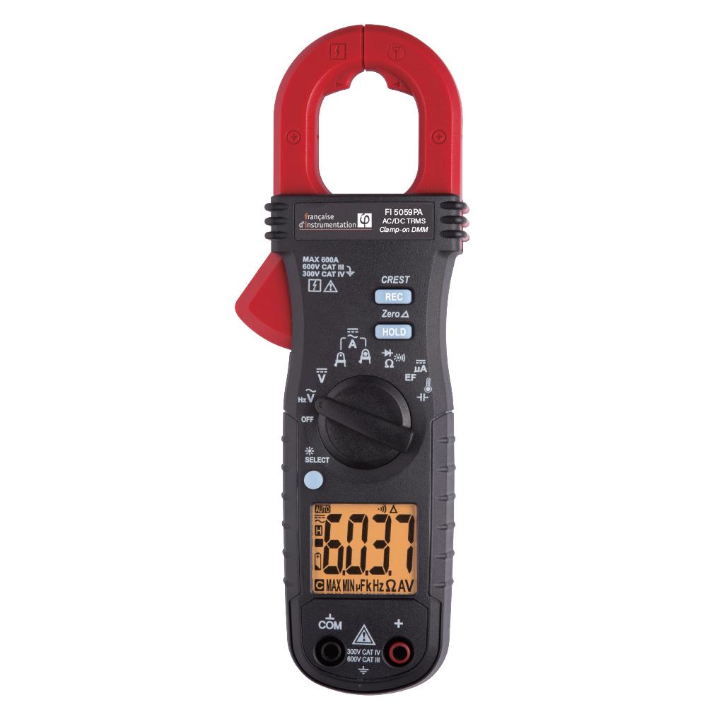 Pince Amp/èrem/étrique ETCR6100 0.0A-600A Haute Pr/écision DC//AC LCD Num/érique Pince Amp/èrem/ètre Testeur Instrument